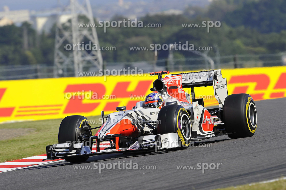 08.10.2011, Suzuka International Racing Course, Suzuka, JPN, F1, Grosser Preis von Japan, Suzuka, im Bild DHL Branding - Daniel Ricciardo (AUS) Hispania Racing F1 Team // during the Formula One Championships 2011 Large price of Suzuka held at the Suzuka International Racing Course, 2011-10-08  EXPA Pictures © 2011, PhotoCredit: EXPA/ nph/  Dieter Mathis        ****** only for AUT, POL & SLO ******