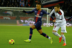 January 19, 2019 - Paris, Ile de France, France - Paris SG Forward NEYMAR JR best player of the match during the French championship League 1 Conforama match Paris SG against EA Guingamp at the Parc des Princes Stadium in Paris - France..Paris SG won 9-0 (Credit Image: © Pierre Stevenin/ZUMA Wire)