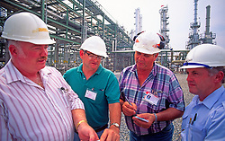 Group Chemical Plant Engineers Talking