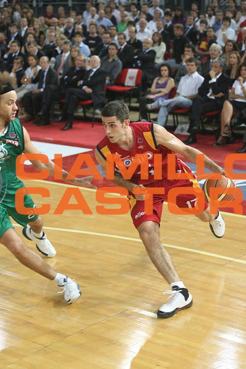 DESCRIZIONE : Roma Lega A1 2007-08 Playoff Finale Gara 4 Lottomatica Virtus Roma Montepaschi Siena <br /> GIOCATORE : Rodrigo De La Fuente<br /> SQUADRA : Lottomatica Virtus Roma<br /> EVENTO : Campionato Lega A1 2007-2008 <br /> GARA : Lottomatica Virtus Roma Montepaschi Siena<br /> DATA : 10/06/2008 <br /> CATEGORIA : Penetrazione<br /> SPORT : Pallacanestro <br /> AUTORE : Agenzia Ciamillo-Castoria/M.Marchi