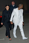 03.MARCH.2013. PARIS<br /> <br /> KANYE WEST AND KIM KARDASHIAN ATTEND GIVENCHY'S FALL-WINTER 2013-2014 READY-TO-WEAR COLLECTION SHOW HELD AT HALLE FREYSSINET IN PARIS.<br /> <br /> BYLINE: EDBIMAGEARCHIVE.CO.UK<br /> <br /> *THIS IMAGE IS STRICTLY FOR UK NEWSPAPERS AND MAGAZINES ONLY*<br /> *FOR WORLD WIDE SALES AND WEB USE PLEASE CONTACT EDBIMAGEARCHIVE - 0208 954 5968*
