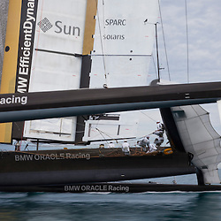 2010 America's Cup, Valencia<br /> BMW Oracle training, February 7, 2010<br /> <br /> ©2010 Kaufmann/Forster go4image.com