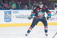 KELOWNA, CANADA - OCTOBER 22: Cole Linaker #26 of the Kelowna Rockets skates on the ice against the Calgary Hitmen on October 22, 2013 at Prospera Place in Kelowna, British Columbia, Canada.   (Photo by Marissa Baecker/Shoot the Breeze)  ***  Local Caption  ***