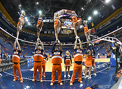 Dec 21, 2016; St. Louis, MO, USA; A general view of the Illinois Fighting Illini cheerleaders warming up before the game against the Missouri Tigers at Scottrade Center. Mandatory Credit: Denny Medley-USA TODAY Sports