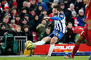 Brighton and Hove Albion midfielder Davy Propper (24) during the Premier League match between Liverpool and Brighton and Hove Albion at Anfield, Liverpool, England on 30 November 2019.