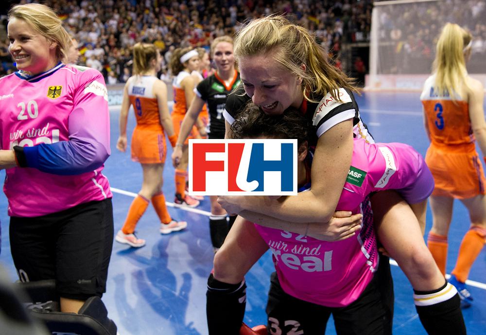 BERLIN - Indoor Hockey World Cup<br /> Final: Netherlands - Germany<br /> Germany wins the world championship.<br /> foto: Rosa Krueger and Franzisca Hauke.<br /> WORLDSPORTPICS COPYRIGHT FRANK UIJLENBROEK