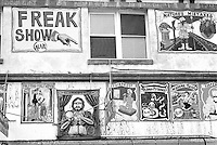 Coney Island Freak Show sign, Brooklyn, New York, NY