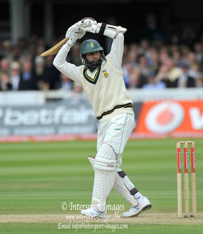 London GREAT BRITAIN,  Hashim AMLA, during the 1st Test England vs South Africa Lord's Cricket Ground, St John's Wood, Saturday, {date].  [Mandatory Credit Peter Spurrier/Intersport Images]