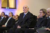 19 DEC 2014, DRESDEN/GERMANY:<br /> Helmut Kohl (M), CDU, Bundeskanzler a.D., und Maike Richter-Kohl (R), Ehefrau von Helmut Kohl, Veranstaltung der Konrad-Adenauer-Stiftung am 25. Jahrestag der Rede von Helmut Kohl vor der Ruine der Frauenkirche, Albertinum<br /> IMAGE: 20141219-01-050<br /> KEYWORDS: Frau, Gattin, wife