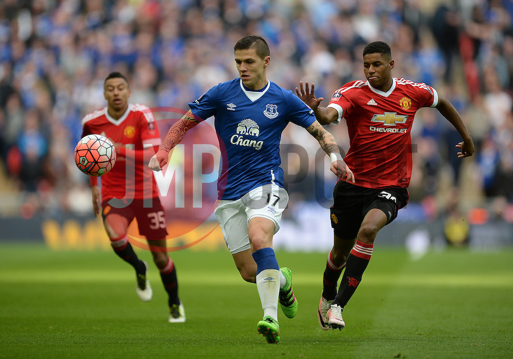 Muhamed Besic of Everton - Mandatory by-line: Alex James/JMP - 23/04/2016 - FOOTBALL - Wembley Stadium - London, England - Everton v Manchester United - The Emirates FA Cup Semi-Final