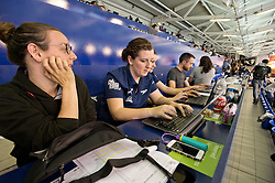 British Swimming in media tribunes  at 2015 IPC Swimming World Championships -