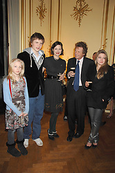 Left to right, LILY GUINNESS, TOM GUINNESS, JASMINE GUINNESS, ERSKINE GUINNESS and CELESTRE GUINNESS at a party to celebrate the publication of 'Arthur's Road' a biography of Arthur Guinness written by Patrick Guinness held at the Irish Embassy, London on 6th March 2008.<br /><br />NON EXCLUSIVE - WORLD RIGHTS