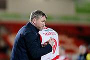 Grant McCann of Doncaster Rovers during the EFL Sky Bet League 1 match between Doncaster Rovers and Bristol Rovers at the Keepmoat Stadium, Doncaster, England on 26 March 2019.