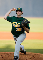 William and Mary pitcher Cody Winslow (36).  The #16 ranked Virginia Cavaliers baseball team faced the William and Mary Tribe at the University of Virginia's Davenport Field in Charlottesville, VA on April 23, 2008.