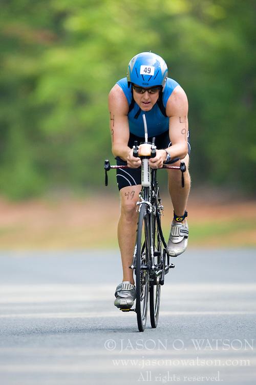 CHARLOTTESVILLE, VA - July 27, 2008 - TRIP DAVIS in The 2008 Charlottesville International Triathlon was held at Walnut Creek Park in Albemarle County near Charlottesville, Virginia, USA.