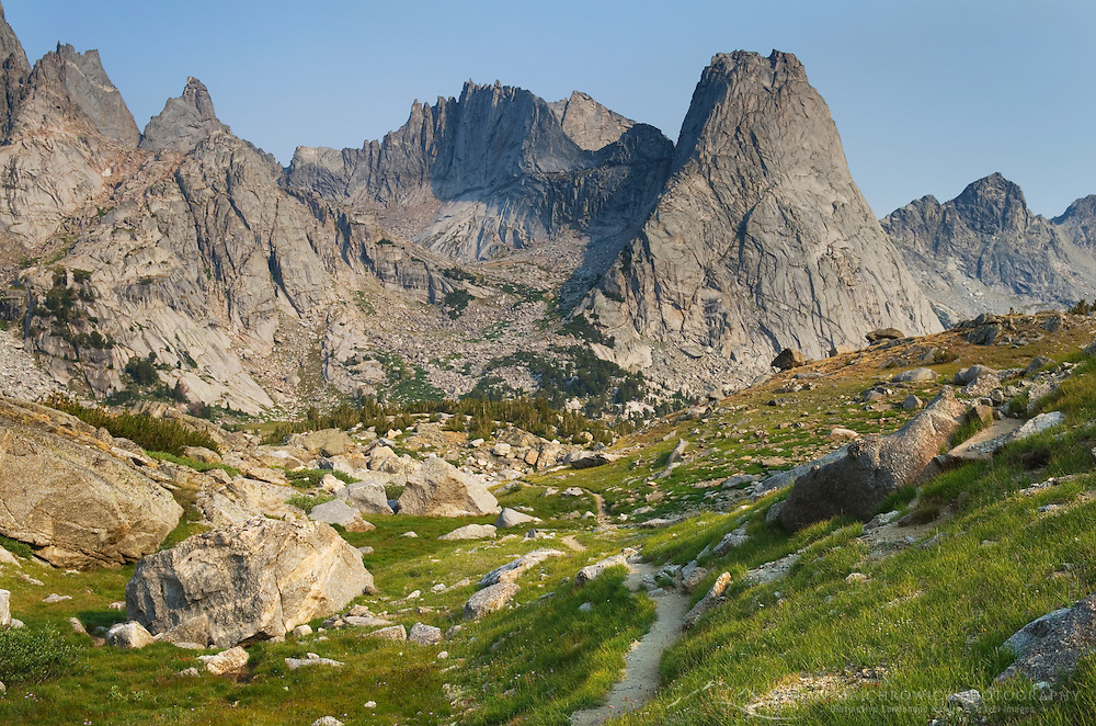 Trtail into the Cirque of the Towers, Popo Agie Wilderness, Wind River Range Wyoming