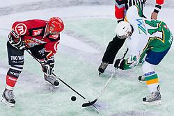 Bojan Brun vs Dejan Kontrec during ice-hockey friendly match between legends of HDD Tilia Olimpija and HK Acroni Jesenice, on April 14, 2012 at SRC Stozice, Ljubljana, Slovenia. (Photo By Matic Klansek Velej / Sportida.com)