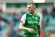 Anthony Stokes (#28) of Hibernian during the Ladbrokes Scottish Premiership match between Hibernian and Ross County at Easter Road, Edinburgh, Scotland on 23 December 2017. Photo by Craig Doyle.