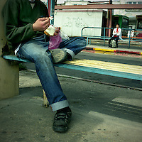 Judah, young drug addict at the central bus station in south Tel Aviv
