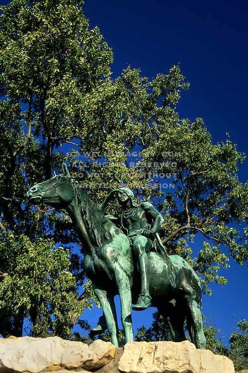 Image of the Kansas City Scout statue in Kansas City, Missouri, American Midwest