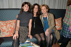 Left to right, CAROLYN HADDEN-PATON, LADY RUDDOCK and LAURA LONSDALE twin sister of Geordie Greig at a talk by Geordie Greig about his book 'Breakfast With Lucian' held at Grace, 11c West Halkin Street, London on 22nd January 2014.