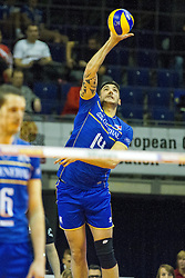 08.01.2016, Max Schmeling Halle, Berlin, GER, CEV Olympia Qualifikation, Frankreich vs Bulgarien, im Bild Aufschlag NiclasLe Goff (#14, Frankreich/France) // during 2016 CEV Volleyball European Olympic Qualification Match between France and Bulgaria at the  Max Schmeling Halle in Berlin, Germany on 2016/01/08. EXPA Pictures © 2016, PhotoCredit: EXPA/ Eibner-Pressefoto/ Wuechner<br /> <br /> *****ATTENTION - OUT of GER*****