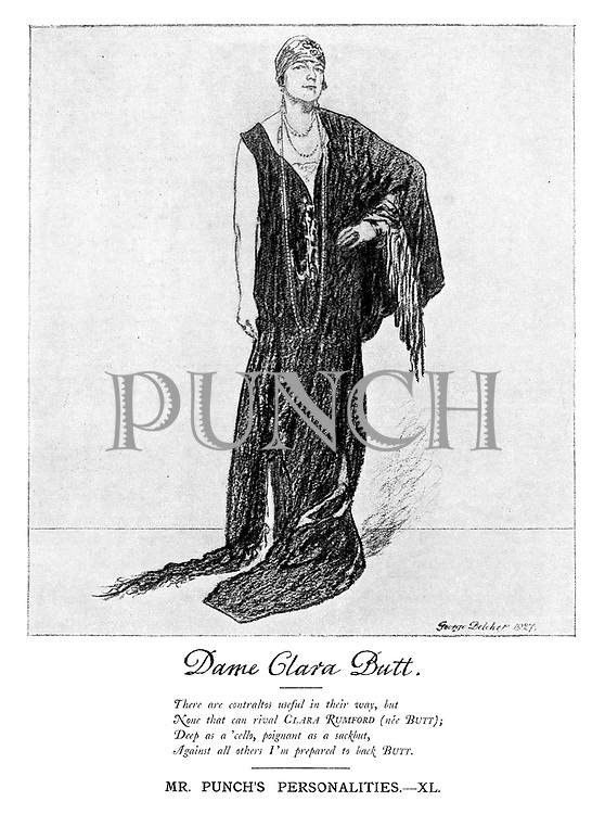 Mr Punch's Personalities. XL Dame Clara Butt