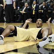 Ron Anderson Jr. (1) reacts after being fouled during the NCAA basketball game against theUCF Knights at the UCF Arena on November 18, 2010 in Orlando, Florida. UCF won the game 65-59. (AP Photo/Alex Menendez)