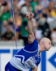 Teemu Wirkkala of Finland competes in the men's Javelin Throw Final during day nine of the 12th IAAF World Athletics Championships at the Olympic Stadium on August 23, 2009 in Berlin, Germany. (Photo by Vid Ponikvar / Sportida)