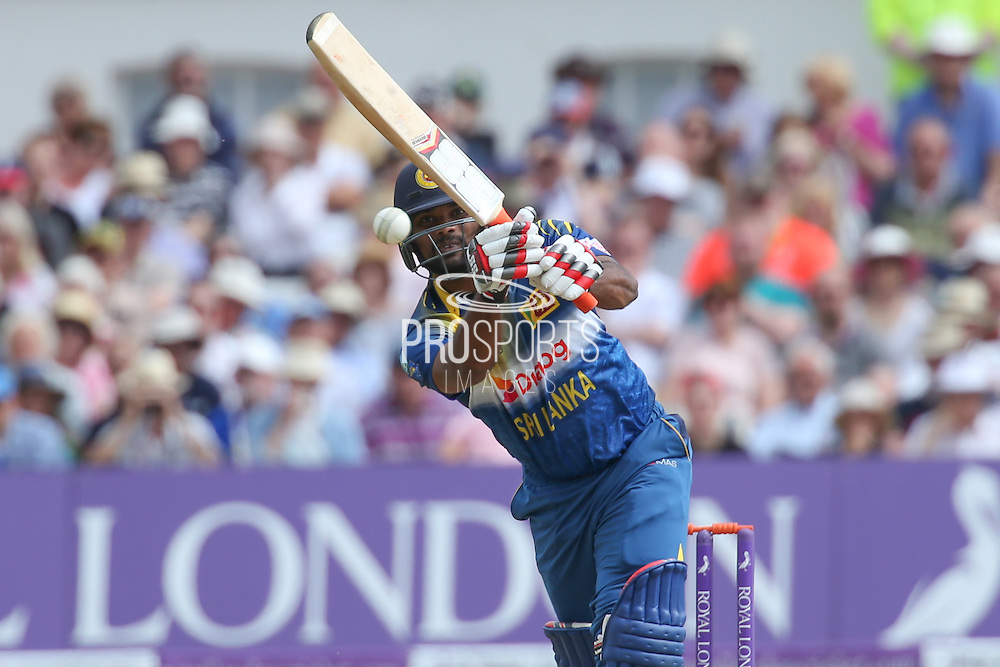 Sri Lanka's Seekkuge Prasanna in action during the Royal London ODI match between England and Sri Lanka at Trent Bridge, West Bridgford, United Kingdon on 21 June 2016. Photo by Shane Healey.
