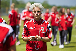 HAVERFORDWEST, WALES - Saturday, June 14, 2014: Wales' captain Jessica Fishlock before the FIFA Women's World Cup Canada 2015 Qualifying Group 6 match against Turkey at the Bridge Meadow Stadium. (Pic by David Rawcliffe/Propaganda)
