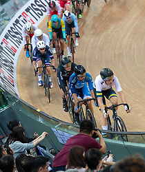 January 26, 2019 - Hong Kong, Hong Kong SAR, China - Mens Omnium IV. Australias Cameron Meyers (pictured leading) takes gold with New Zealands Campbell Stewart taking Silver and France's Benjamin Thomas takes silver.UCI Track Cycling World Cup Hong Kong 2019, Qualifiers Leg VI at the Hong Kong Velodrome in Tseung Kwan O ,Kowloon (Credit Image: © Jayne Russell/ZUMA Wire)