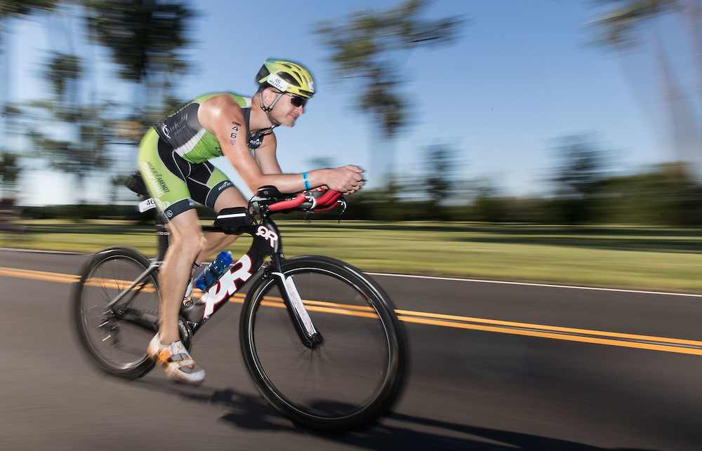 Omaha, Nebraska --<br /> <br /> Michael Hruska of Madison, Wisconsin, nears the finish line of the 40-kilometer bike portion of the Olympic-Distance National Championships triathlon at Levi Carter Park on Saturday, Aug. 13, 2016, in Omaha.<br /> <br /> MATT DIXON/THE WORLD-HERALD
