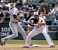 CHICAGO - APRIL 09:  Jose Abreu #79 of the Chicago White Sox fields during the game against the Minnesota Twins on April 9, 2017 at Guaranteed Rate Field in Chicago, Illinois.  (Photo by Ron Vesely)   Subject:  Jose Abreu