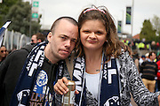 Millwall FC fans during the Sky Bet League 1 play off final match between Barnsley and Millwall at Wembley Stadium, London, England on 29 May 2016. Photo by Simon Davies.