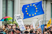 A march for Europe brings out thousands of remain supporters who march from Hyde Park to Parliament Square.
