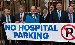Edinburgh, Scotland, UK. 30 May, 2019. The Scottish Conservative party launched a hospital parking campaign at the Scottish Parliament in Holyrood in Edinburgh. The Scottish Conservatives believe that car parking charges are too expensive at Scottish hospitals.