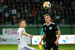 Marko Milec of Maribor and Luka Bobičanec of Mura during football match between NŠ Mura and NK Maribor in semifinal Round of Pokal Telekom Slovenije 2018/19, on April 24, 2019 in Fazanerija, Murska Sobota, Slovenia. Photo by Blaž Weindorfer / Sportida