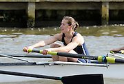 Henley, GREAT BRITAIN,  [Dark Blue] Oxford winning the Women's Boat Race on Henley Reach,  Kathryn TWYMAN, 2010 Henley Boat Races, Henley on Thames, England  Sunday  28/03/2010  28.03.2010. [Mandatory Credit, Peter Spurrier/Intersport-images