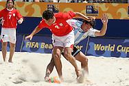 Footbal-FIFA Beach Soccer World Cup 2006 -  Quarter Final-ARG xURU -Seba -Rio de Janeiro- Brazil - 09/11/2006.<br />Mandatory Credit: FIFA/Ricardo Ayres