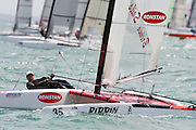 Stephen Brayshaw (AUS25), race three of the A Class World championships regatta being sailed at Takapuna in Auckland. 12/2/2014