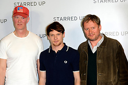 (L-R) Jonathan Asser Jack O'Connell & David McKenzie attends the UK Gala screening of 'Starred Up' at the Hackney Picturehouse, London, United Kingdom. Tuesday, 18th March 2014. Picture by Chris Joseph / i-Images