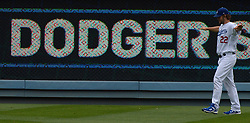 June 7, 2017 - Los Angeles, California, U.S. - Los Angeles Dodgers starting pitcher Clayton Kershaw works out in the outfield prior to a Major League baseball game against the Washington Nationals at Dodger Stadium on Wednesday, June 7, 2017 in Los Angeles. (Photo by Keith Birmingham, Pasadena Star-News/SCNG) (Credit Image: © San Gabriel Valley Tribune via ZUMA Wire)