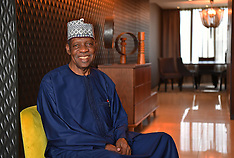 Issa Hayatou poses at an exclusive photo session - 4 Feb 2017
