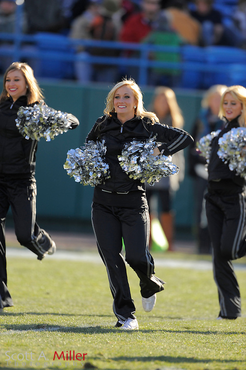 Cheerleaders perform during the United Football League championship game between the Las Vegas Locomotives and the Florida Tuskers at Rosenblatt Stadium on Nov. 27, 2010 in Omaha, Nebraska. Las Vegas won the game 23-20...©2010 Scott A. Miller