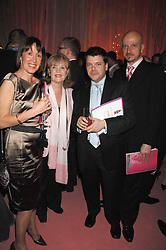 Left to right, SHARON NEWMAN, actress PAULINE COLLINS, JONATHAN LLOYD-HAM and STEVE CORNTHWAITE at the TheatreCares Gala evening at The Old Vic, Waterloo Road, London SE1 on 7th December 2007.<br />