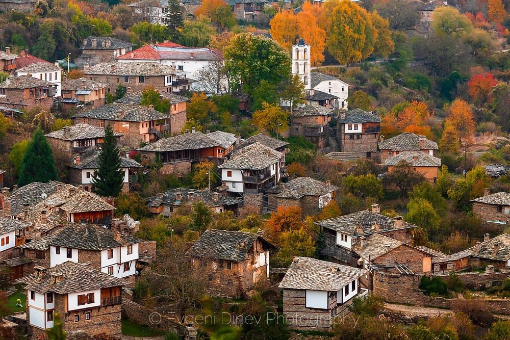 Village of Kovachevitsa in autumn