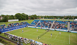 LIVERPOOL, ENGLAND - Thursday, June 18, 2015: Legends in action during Day 2 of the Liverpool Hope University International Tennis Tournament at Liverpool Cricket Club. (Pic by David Rawcliffe/Propaganda)