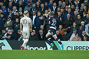 Millwall Forward Aiden O'Brien celebrates as he scores a goal 0-1 during the EFL Sky Bet Championship match between Leeds United and Millwall at Elland Road, Leeds, England on 20 January 2018. Photo by Craig Zadoroznyj.