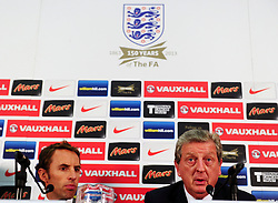File photo dated 27-08-2013 of England's U21's Manager Gareth Southgate (left) and England's Manager Roy Hodgson